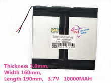 large capacity 30160190 3.7V tablet battery 10000mah each brand tablet universal rechargeable lithium batteries все цены