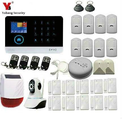 YobangSecurity IOS Android APP Control WCDMA/CDMA 3G WIFI Alarm System HD IP Camera Surveillance Outdoor Waterproof Solar Siren б у cdma терминал