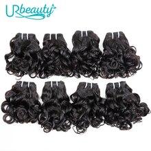 25 กรัม/ชิ้นบราซิลหยักชุด 100% มนุษย์ผม 8 Bundles Wavy Hair Hair ธรรมชาติสี UR ความงาม Remy ผม