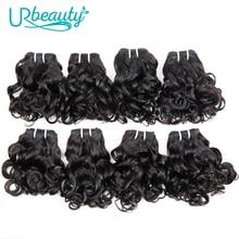 Волнистые бразильские пряди волос 25 г/шт., 100% человеческие волосы, 8 пряди, волнистые натуральные кудрявые пучки волос пряди натурального цвета