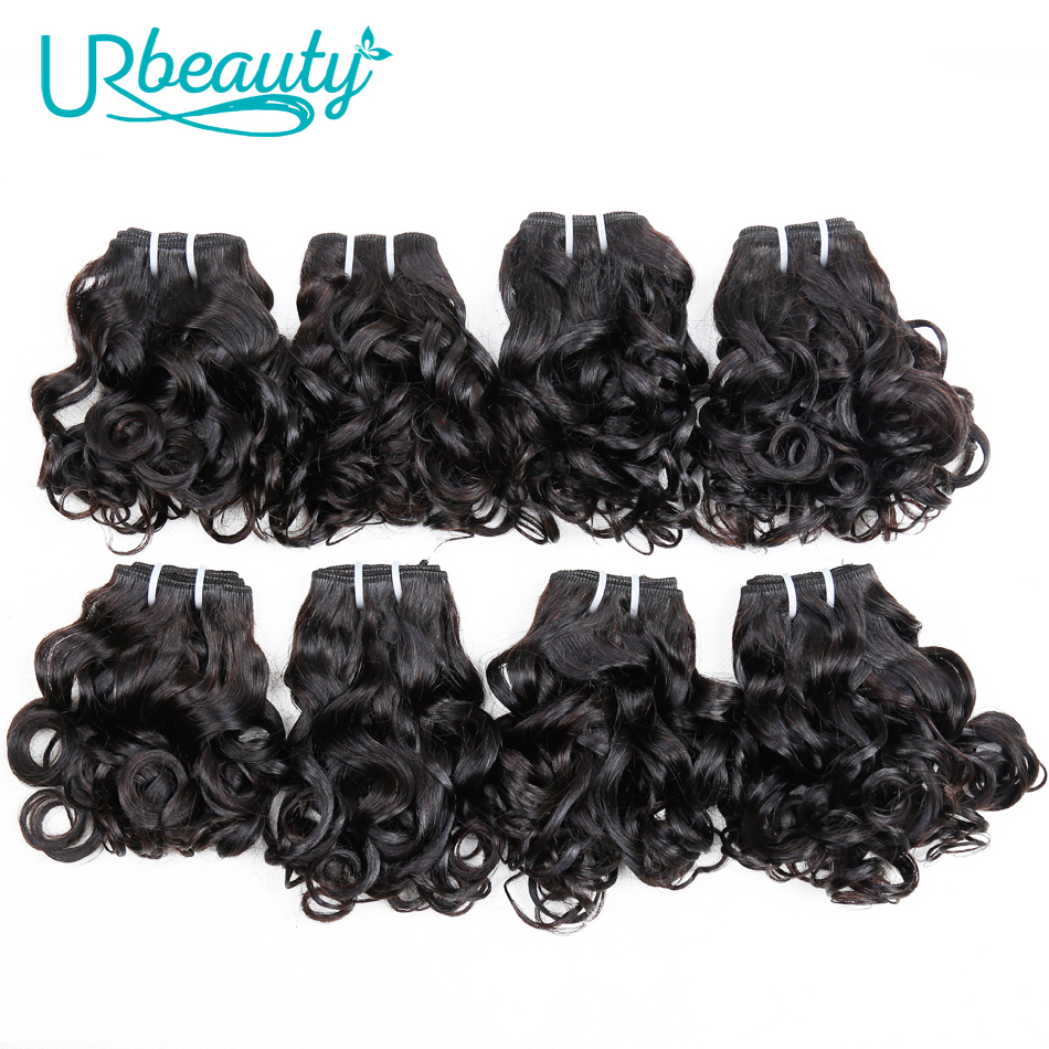 25g/pc Brazilian Wavy Bundles 100% Human Hair 8 Bundles Wavy Human Hair Weave Bundles Natural color UR Beauty Remy Hair-in Hair Weaves from Hair Extensions & Wigs