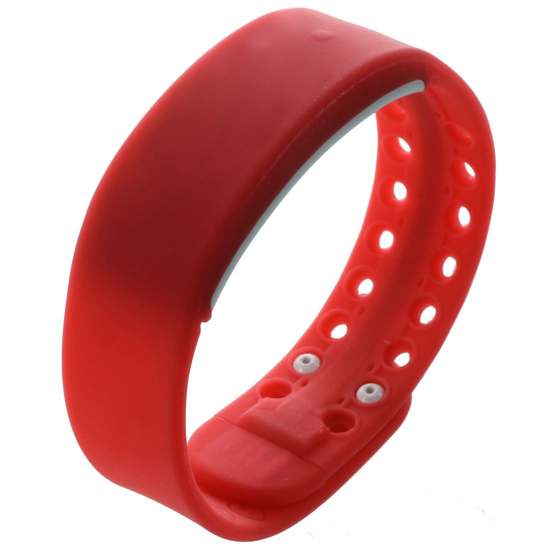 SODIAL(R) 3D LED Waterproof Bracelet W2 Smart Wristband Bracelet USB Pedometer - Red