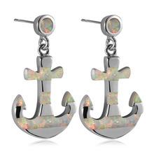 White Fire Opal 925 Sterling Silver Fashion Earrings P301