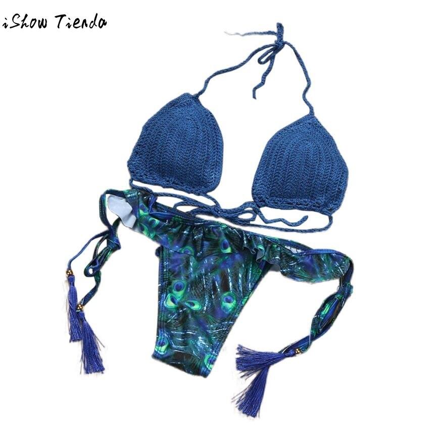 Drop Shipping Bikini 2017 Women Sexy Bandage Bikini Padded Bra Swimsuit Bathing Set Beach Swimwear Swiming Suit Badpak Dames