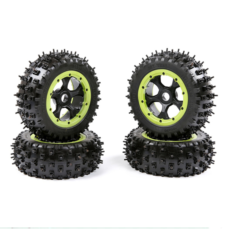 1/5 TRAXXAS X-MAXX XMAXX LOSI 5ive-t Snow Tire Nails Tire Nylon Wheels RC Monster Truck CAR 4pcs tire to 1 5 traxxas x maxx wheels for traxxas x maxx rc monster truck model madmax high quality tyres upgrade rim