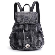 Женский рюкзак, джинсовый Повседневный Рюкзак, винтажные рюкзаки, дорожная сумка, рюкзак, рюкзак, mochila