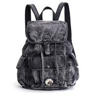 2017 Women's Backpack Denim Daily Backpack Vintage Backpacks Travel Lay Bag Rucksack Backpack mochila