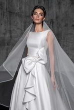 Verngo Waltz Veil Ivory Wedding Veil Pencil Edge Bridal Veil Tesettür Velo Novia