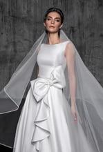 Verngo Waltz Veil Ivory Wedding Veil Pencil Edge Bridal Veil Tesett�r Velo Novia