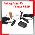 4 Датчики Парковки СВЕТОДИОДНЫЙ Дисплей Автомобиля Парковочный Сенсор Системы с голосовой сигнал Автомобиля Обратный Backup Kit Радар 10 выбор цвета