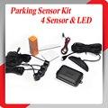 4 Sensores de Estacionamento de Display LED Car Parking Sensor System com voz beep Reverso Do Carro Kit Radar Backup 10 opções de cores