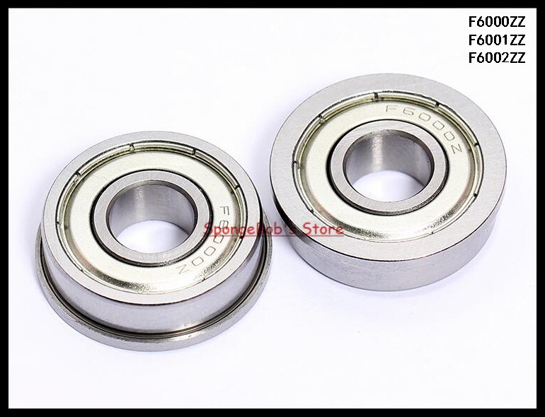 F6001ZZ Flanged Shielded Miniature Ball Bearing 12x28x8mm