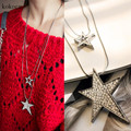 2017 Colorful Five-Pointed Star Necklaces Crystal From Swarovski Necklace Pendants For Women Wedding Party Jewelry Collar woman