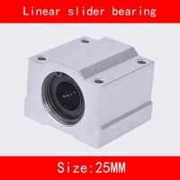 2 Piece Lot SCS20UU SCS25UU 20mm 25mm Linear Motion Ball Bearing Slider Bushing Linear Shaft For