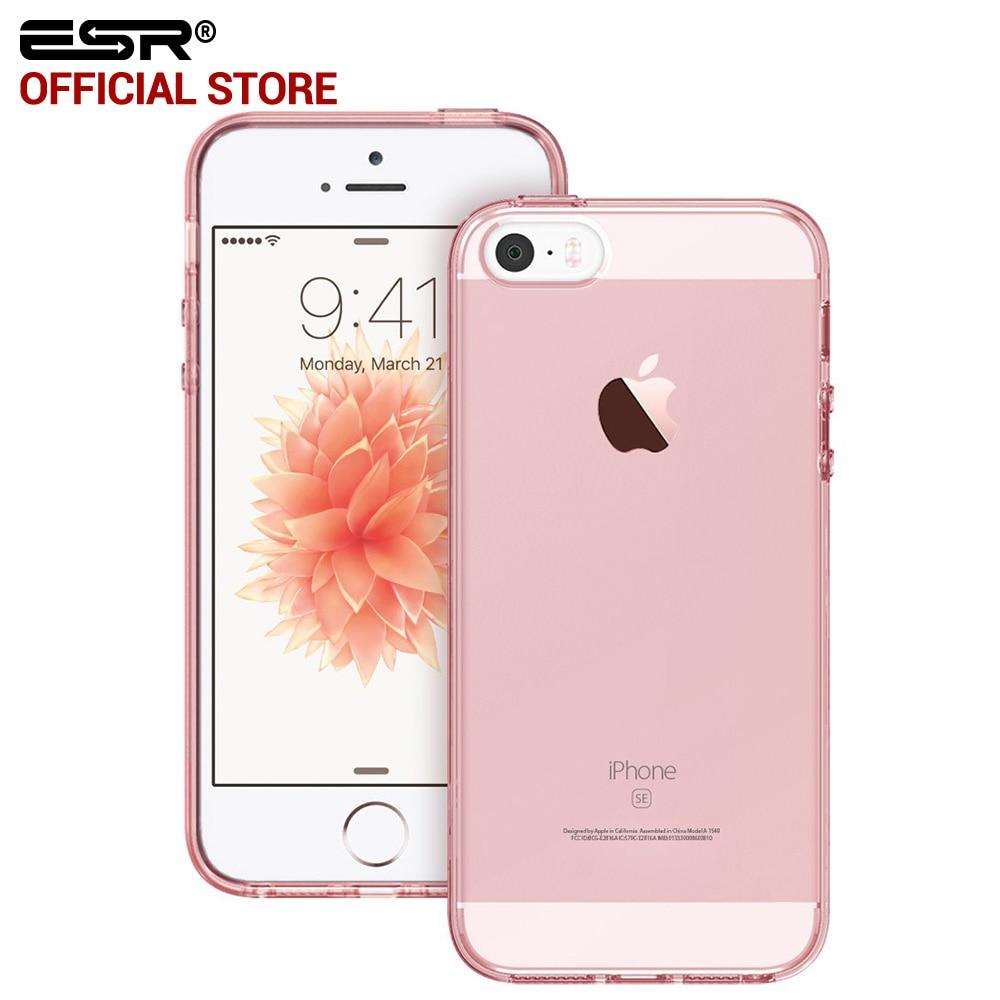 ESR калъф за iPhone SE / 5S 6 / 6S 7/8 Plus Clear Ultra тънък лек хибриден калъф мек TPU твърд заден капак за iphone SE 5 5s