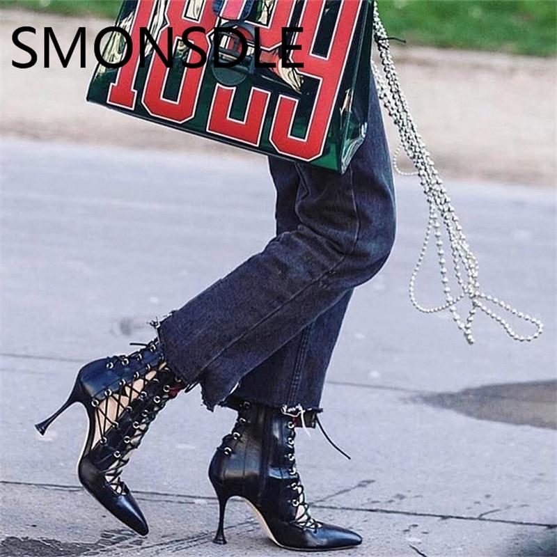 2018 sandalias de las nuevas mujeres de la manera negro de oro con - Zapatos de mujer - foto 3