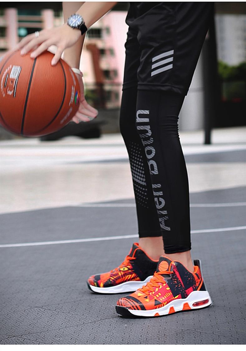 Plus Size 35-46 Sport Fashion Sneakers Women Breathable Geometric Basket Female Men's Casual Shoes Air Cushion Sneakers NX013 (12)