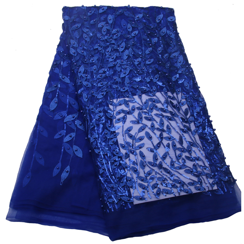 Royalblue (5yards/lot) Fashion New arrival Soft French embroidery tulle lace with beads and stones Free Shipping NA536B-5Royalblue (5yards/lot) Fashion New arrival Soft French embroidery tulle lace with beads and stones Free Shipping NA536B-5