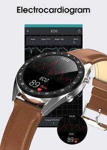 Image 5 - Microwear L7 スマートウォッチフィットネスブレスレットIP68 防水トラッカー腕時計ecg心拍数モニターコールリマインダスマートウォッチの男性
