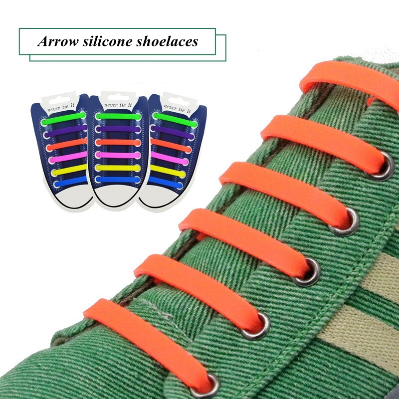 12pcs/lot Elastic Silicone Shoelaces For Shoes Special Shoelace No Tie Shoe Laces For Men Women Lacing Shoes Rubber Shoelace L2 semi circle multicolour shoelace two tones cavans shoe laces elastic men s shoes lacet 110cm length 10 pairs on sale