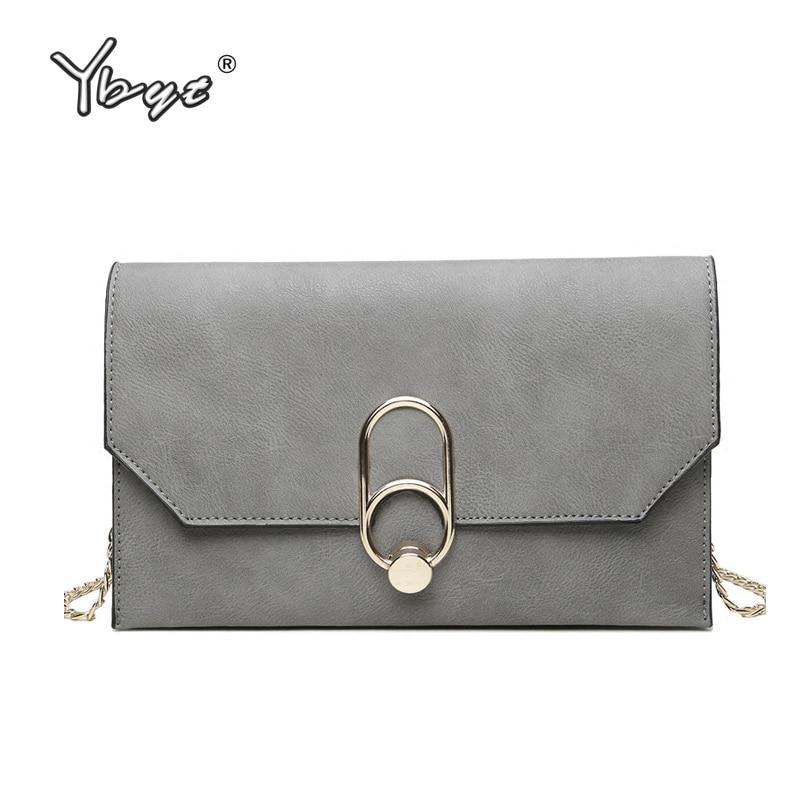 YBYT 브랜드 2018 캐주얼 PU 가죽 여성 가방 봉투 클러치 저녁 가방 숙녀 쇼핑 지갑 여성 어깨 crossbody 가방