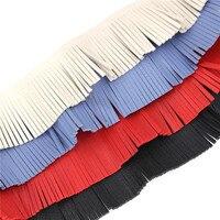 SKEINS 5Yards Lot Bohemia Style Velvet Faux Leather Fringe Tassel Trim For Diy Necklace Crafts Accessories