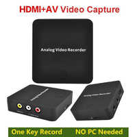 AV Capture Analoge to Digital Video Recorder Converter with Audio Video input AV HDMI Output to Micro SD Card No PC Required