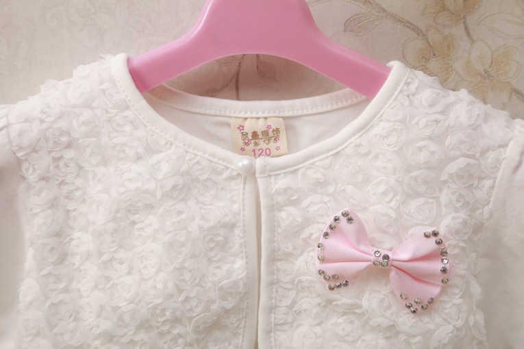 2020 아기 소녀 카디 건 스웨터 꽃 긴 소매 핑크 아기 소녀 자 켓 1 & 2 년 오래 된 유아 아기 옷 RKC184005