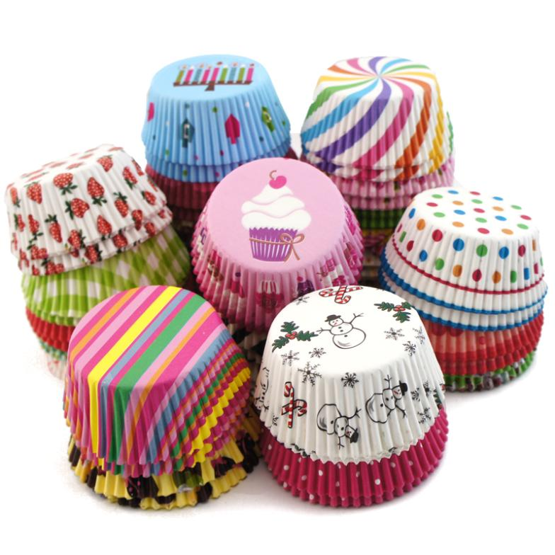 200pcs Paper Cupcake Liners Baking Cup Muffin Cases 2 Broke Girls