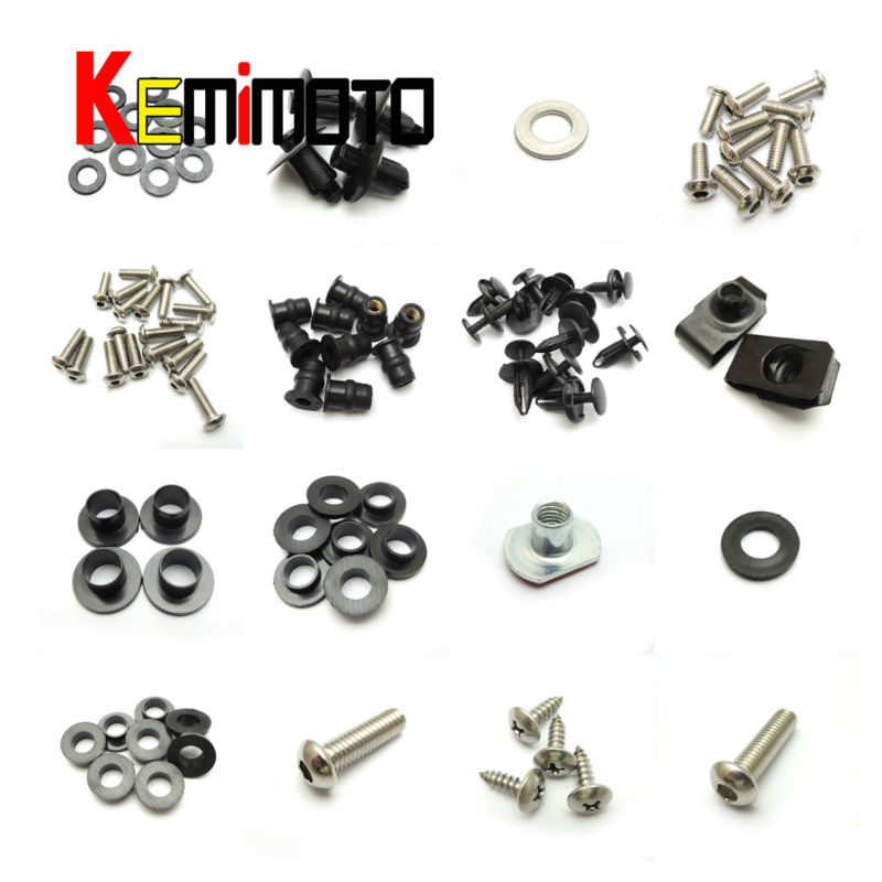Motorcycle Fairing Bolt Screw Nuts Washers Fastener Fixation for SUZUKI GSX-R 600 750 GSXR 2006 2007 Full Kit FREE SHIPPING (1)