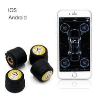 Tpms Android Bluetooth 4 Tyre Pressure Car External Sensor Tire Pressure Monitoring System BLE Tpms Presion Neumaticos for ios