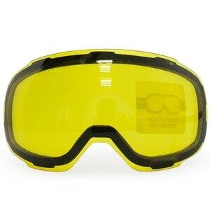 Image 4 - COPOZZ oryginalny GOG 2181 obiektyw żółty Graced magnetyczny obiektyw do gogle narciarskie Anti fog UV400 sferyczne gogle narciarskie noc narciarstwo obiektyw