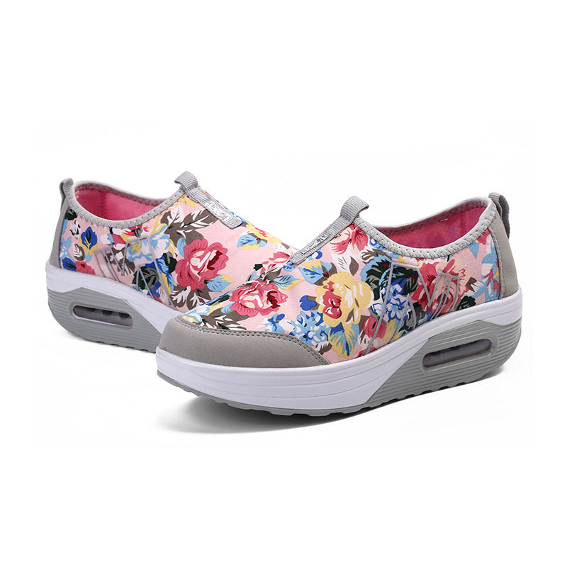 Spring Shake Shoes Kvinnor Skriv ut Casual Outdoor Shoes Flower - Damskor - Foto 5