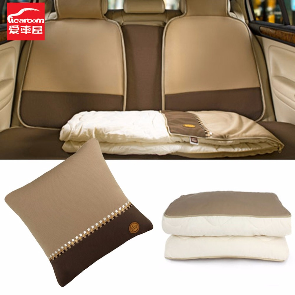 iCaroom Car Summer Quilt Square 45*45cm Vehicle Cotton Quilt Breathable Bedclothes Multifunctional Soft Quilt Pillows