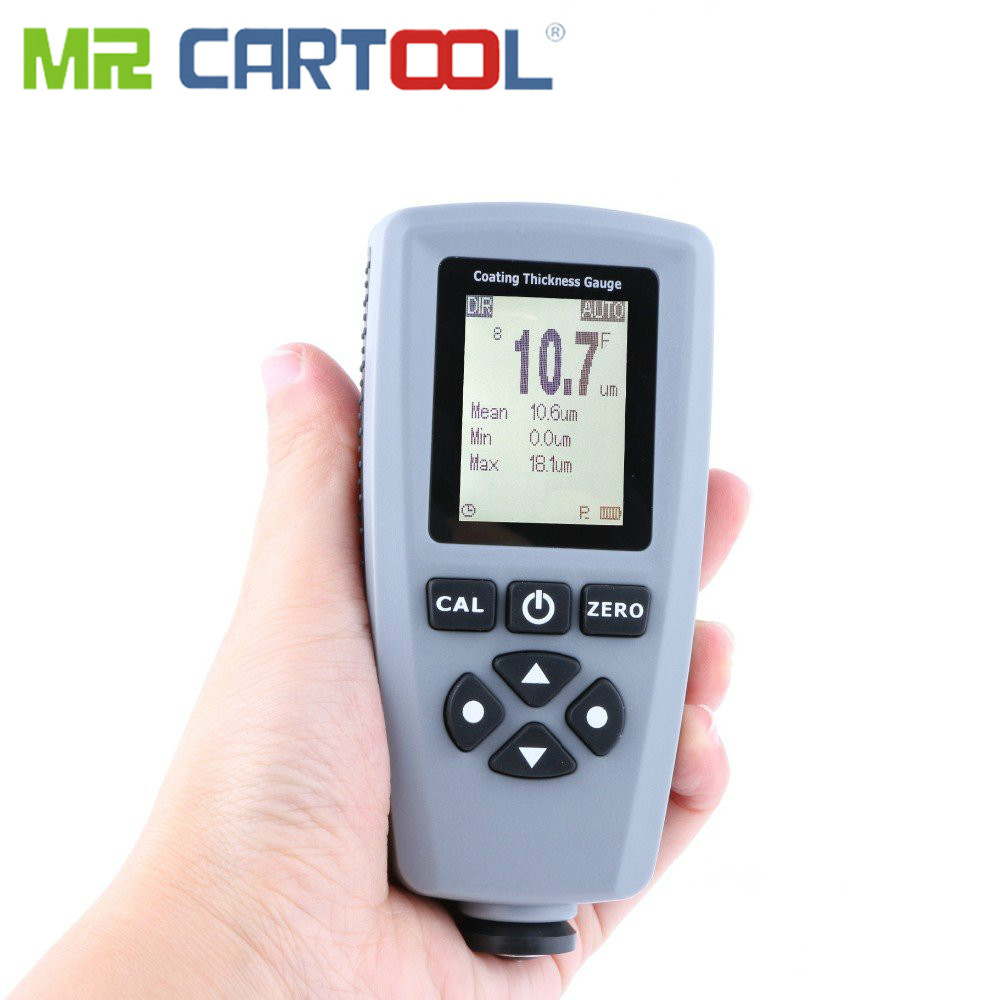 MR CARTOOL EC770 Thickness Detection Tool Coating Thickness Gauge F/N Probe Measure Range from 0 to 1300um