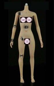 """Image 4 - Cuerpo sin costura femenino superflexible, esqueleto de acero inoxidable, tamaño mediano/grande, muñeca de pecho para juguete de 12 """", Phicen Tbleague Hottoy JIAOUL, 1/6"""