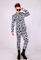 S 5XL ! DJ men's brand fashion new stage singer Kito black and white suit formal suit set ds costumes suits clothing