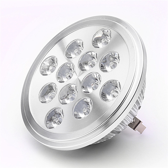 12V LED AR111 Light Bulb QR111 Lamp Spotlight 15W G53 Replace 100W Halogen Lamp for Household and Business Lighting