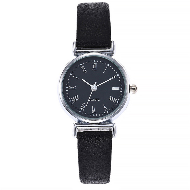 Modern Fashion Women Watches Simple Roman Numerals Small Dial Watch Leather Quartz Ladies Causal Dress Watch Reloj Mujer #D