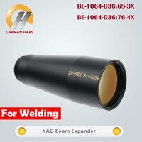 Carmanhaas Fibra YAG 1064nm Feixe Expansor 3X 4X para M22 * 0.75 A Laser Galvanômetro Sistema de Solda A Laser