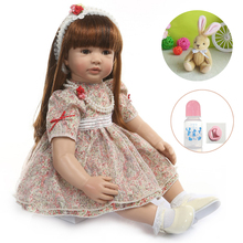 60cm Silicone Reborn Girl Baby Doll Toys alive Vinyl Princess Toddler Babies Dolls Birthday Gift Unique refined Edition lol Doll wholesale 23 fashion doll reborn babies full silicone vinyl newborn dolls blonde wig baby toys for princess birthday gifts