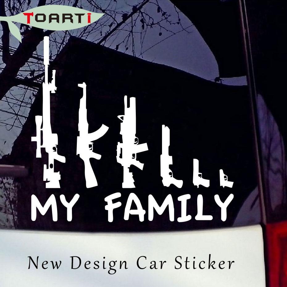 Waffen Auto Aufkleber Sticker My Family Kalashnikov Pistole Familie