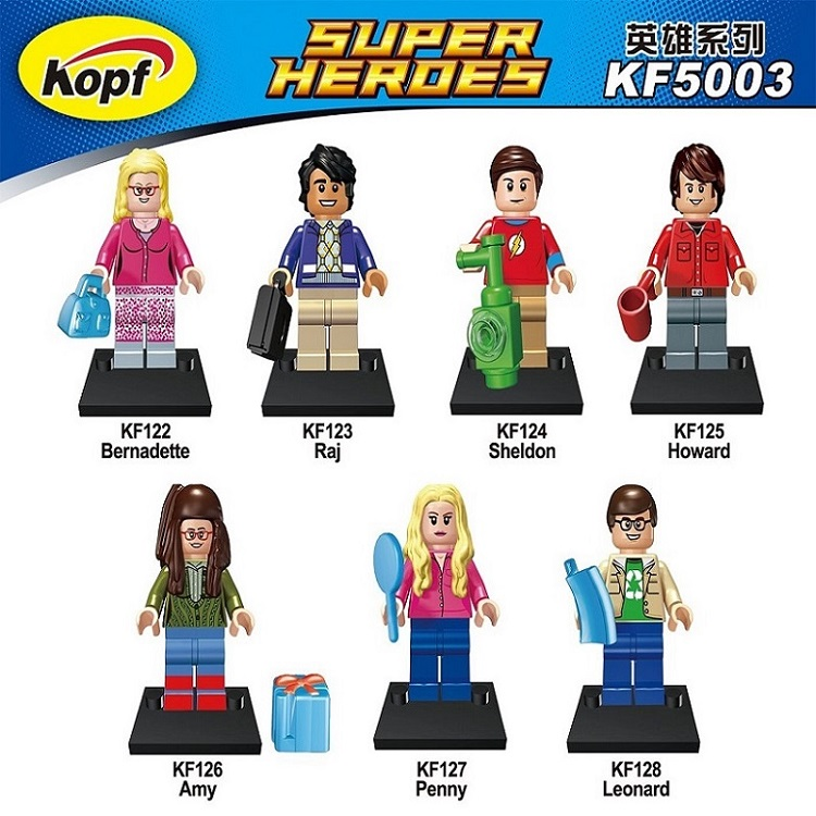 Sheldon Bernadette Penny Leonard Raj Howard Amy The Big Bang Theory TBBT Figure  Building Blocks Bricks Children Toys KF5003