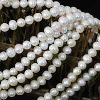Natural White 7 8mm Cultured Freshwater Pearl Loose Beads Elegant Fashion Women Fashion Hot Sale Jewelry