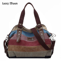 K 988 High Quality Fashion Messenger Bags Canvas Super Patchwork Handbag 2016 Shopping Totes Handbags Casual