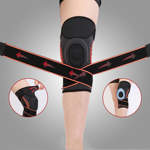 1pc Silicone Padded Knee Brace Support Adjustable Non-slip Protective Sports Pad Basketball Pressurized Patella Sleeve