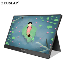 NEW 15.6 inch Type-C USB-C Portable Monitor HD IPS 1920x1080 Gaming Display with HDMI Earphone Port for Raspberry PS3/PS4