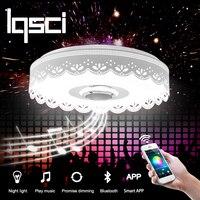 Lqsci rgb затемнения 36 Вт светодиодный потолочный светильник с Bluetooth и музыка 176 264 В современный светодиодный потолочный светильник