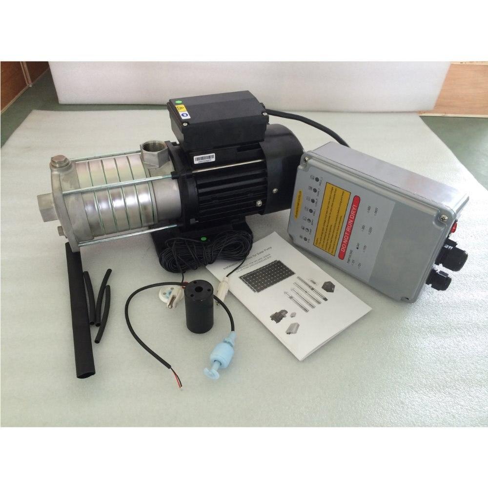 1HP DC 48 v pompe centrifuge de Surface de pompe à eau Simple avec contrôleur de fonction MPPT 100% modèle de puits de test SCPJW5/83-D48/750