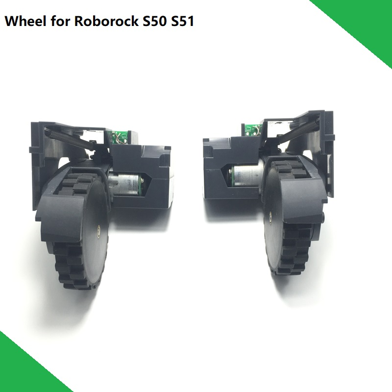 Original Traveling Wheel Module Right and Left Spare Parts Wheel for XIAOMI Roborock S50 S51 S55|Vacuum Cleaner Parts| |  - title=